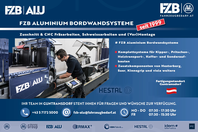 FZB Aluminium Bordwandsysteme
